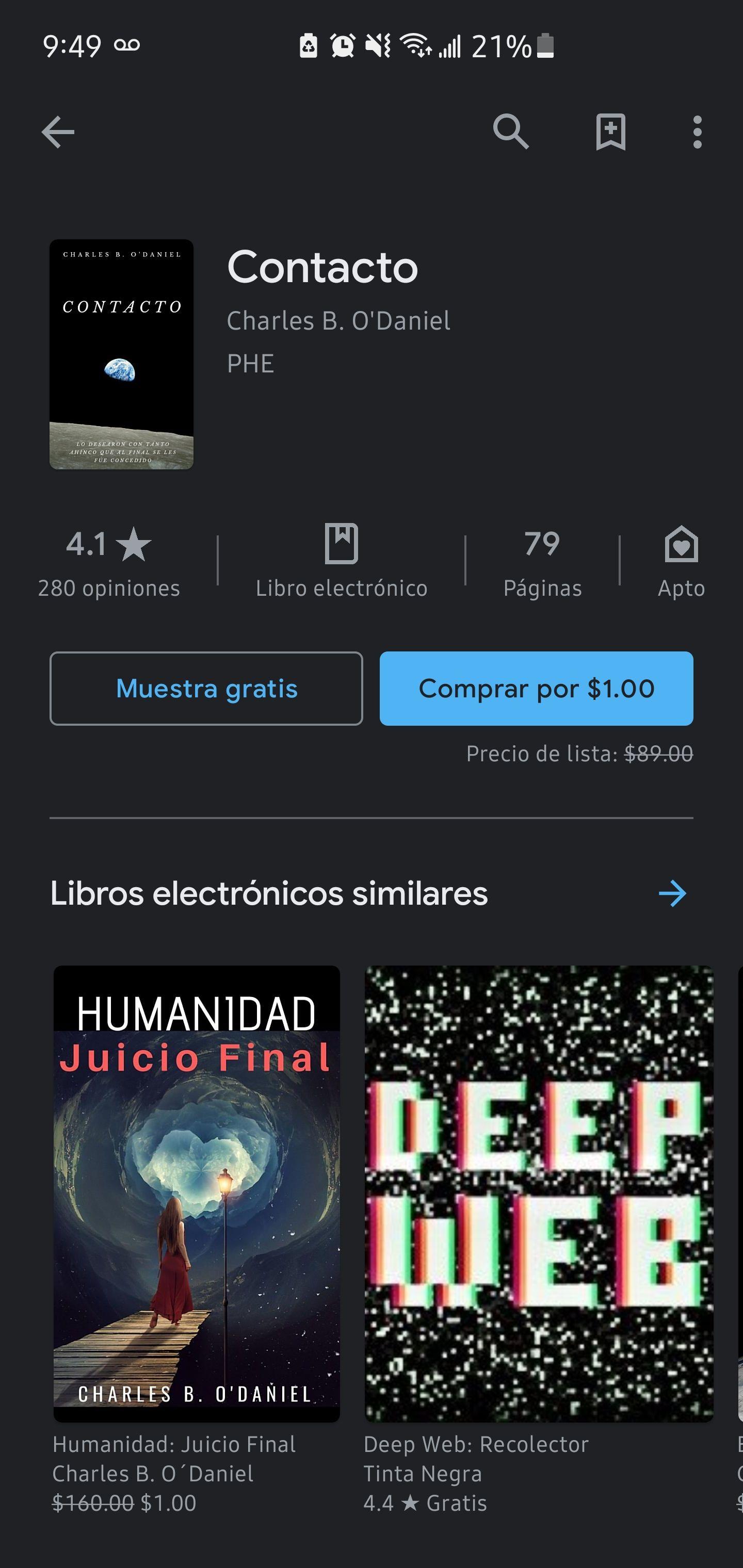 Google Play: Libro Contacto
