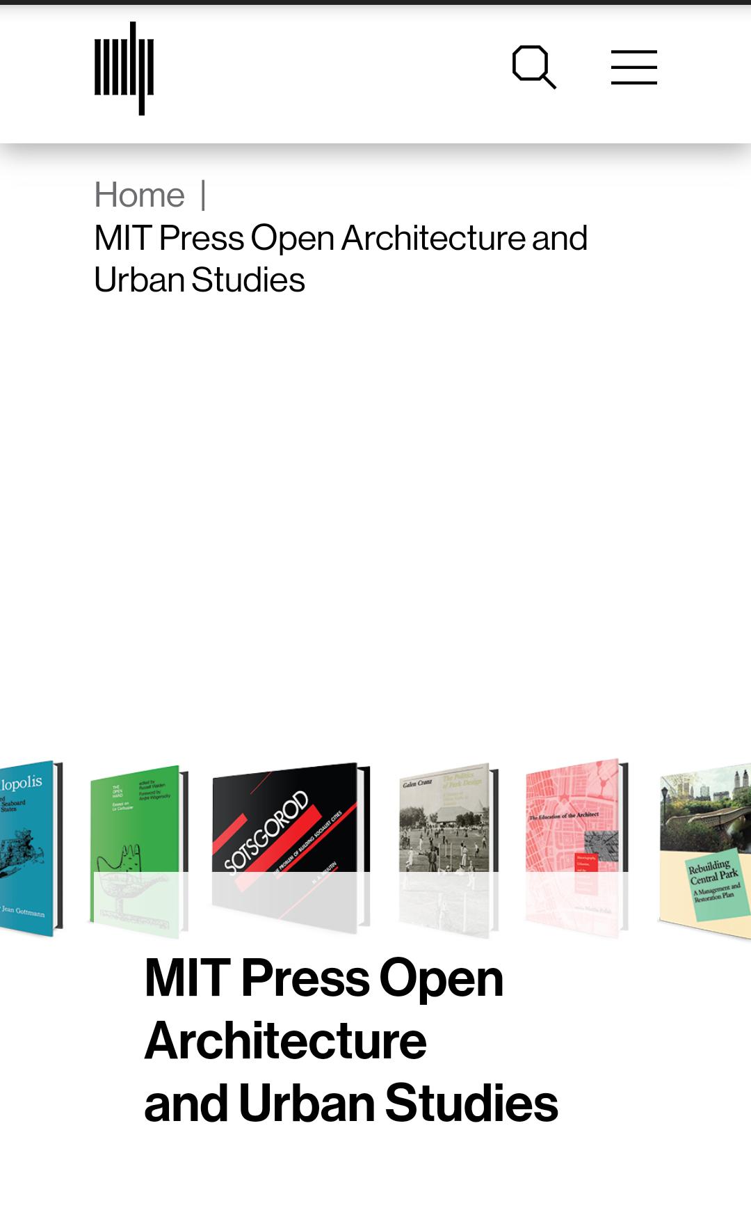 MIT más de 30 libros de arquitectura y estudios urbanos, totalmente gratis