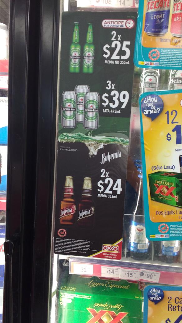 Oxxo: cerveza bohemia 2 x $24