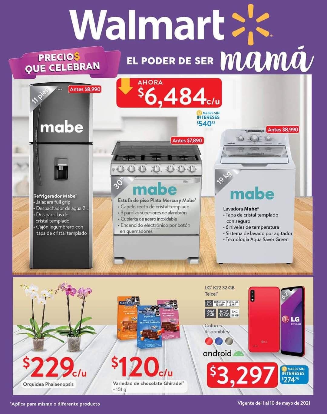 """Walmart: Folleto de Ofertas """"Precios que Celebran el Poder de Ser Mamá"""" del Sábado 1 al Lunes 10 de Mayo"""