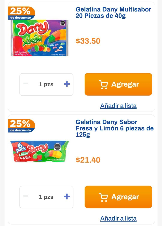 Chedraui: 25% de descuento por cada 2 Multipacks de gelatina Dany o Dany Xprim