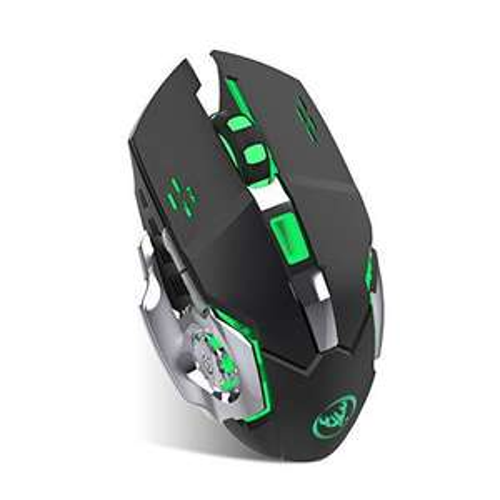 Amazon, Salandens Mouse inalámbrico recargables de 2.4 Ghz con luz LED reposo automático, agarre ergonómico, 3 opciones ajustables.