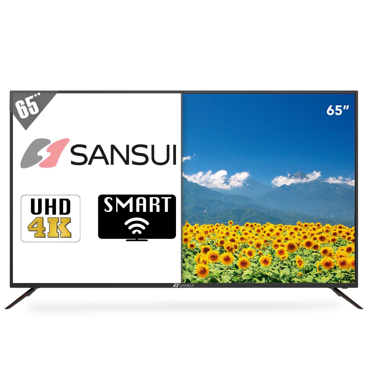 Radioshack PANTALLA SANSUI SMX6519NUSM (65 PULG., UHD 4K, SMART TV)