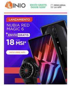 Linio, Nubia Red Magic 6 con 3 accesorios de regalo por Lanzamiento