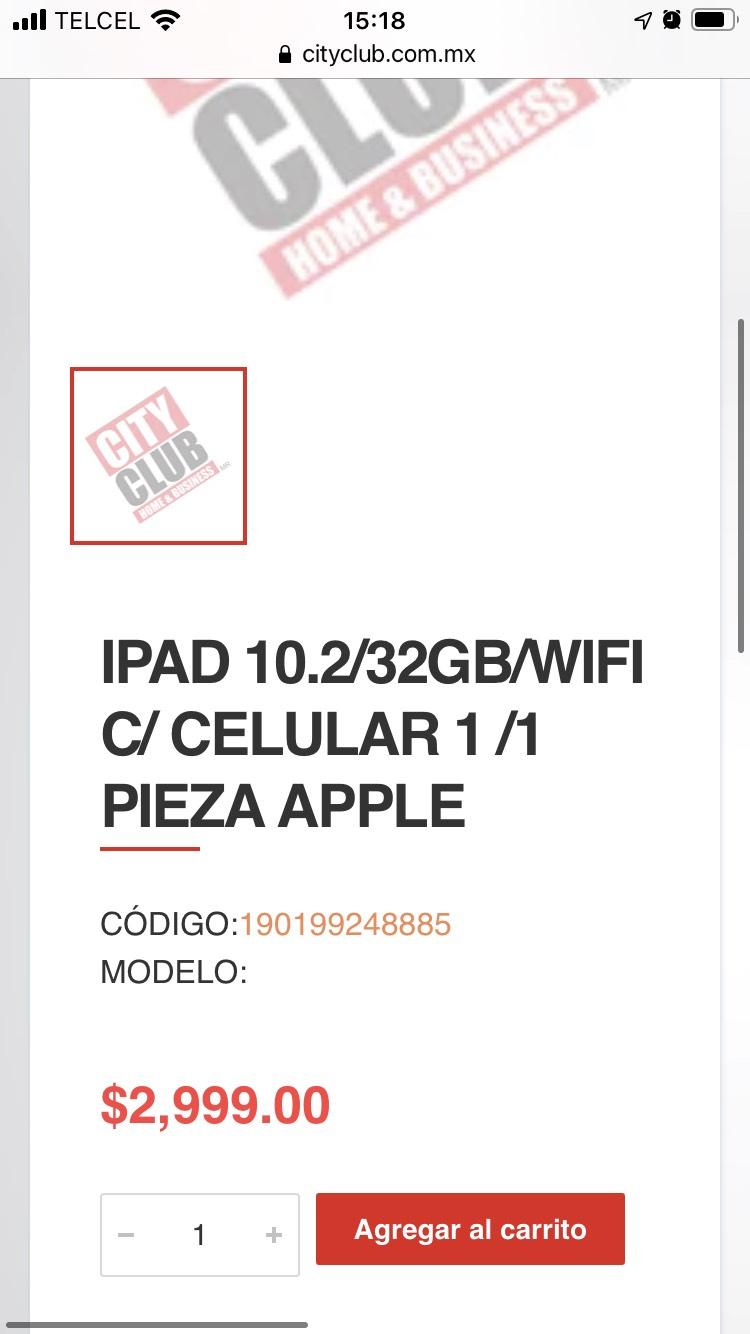 City Club Online: IPad 7 32gb Wifi + LTE