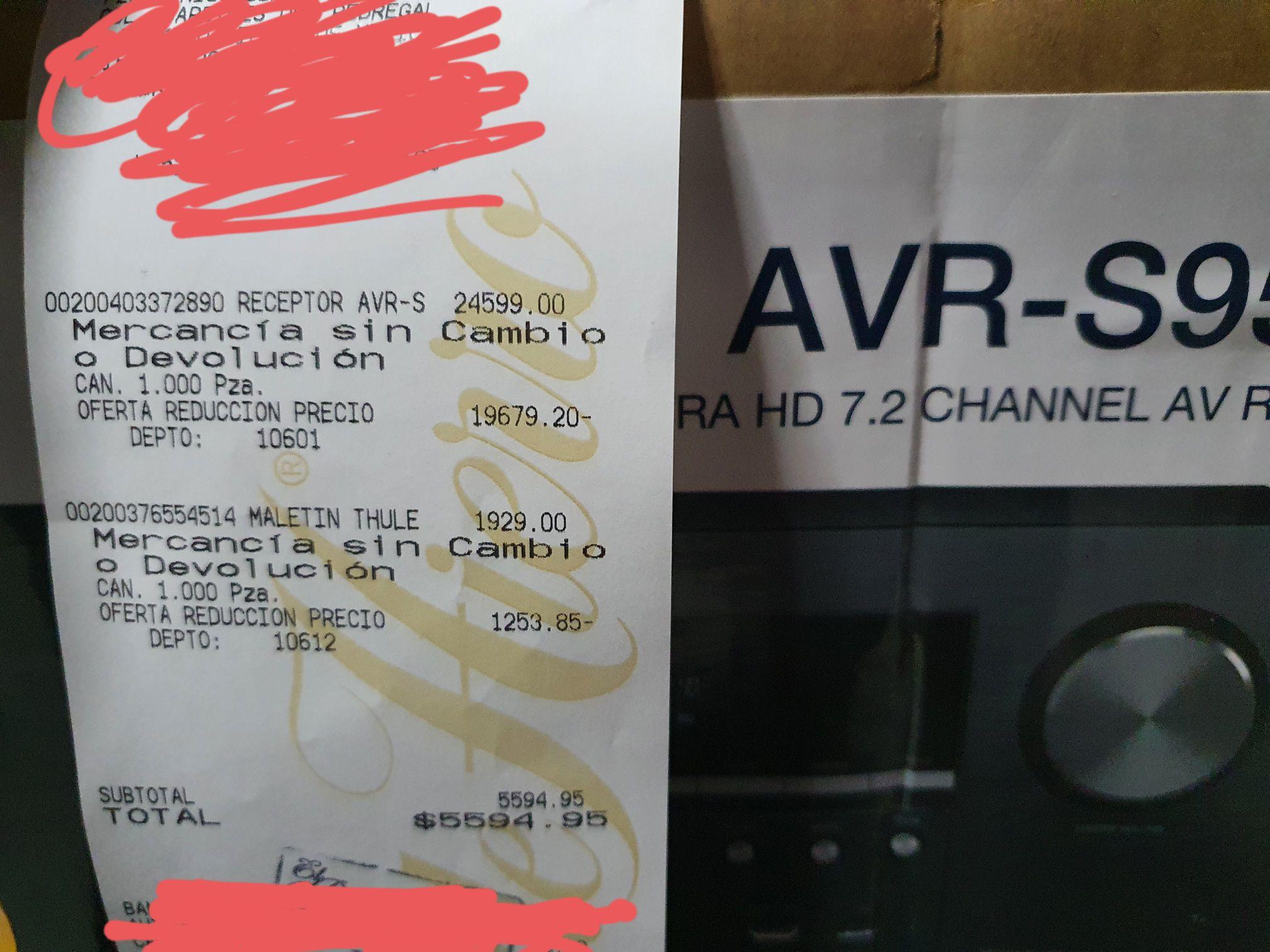 Palacio de Hierro perisur: amplificador denon AVR S950H con 80% descuento