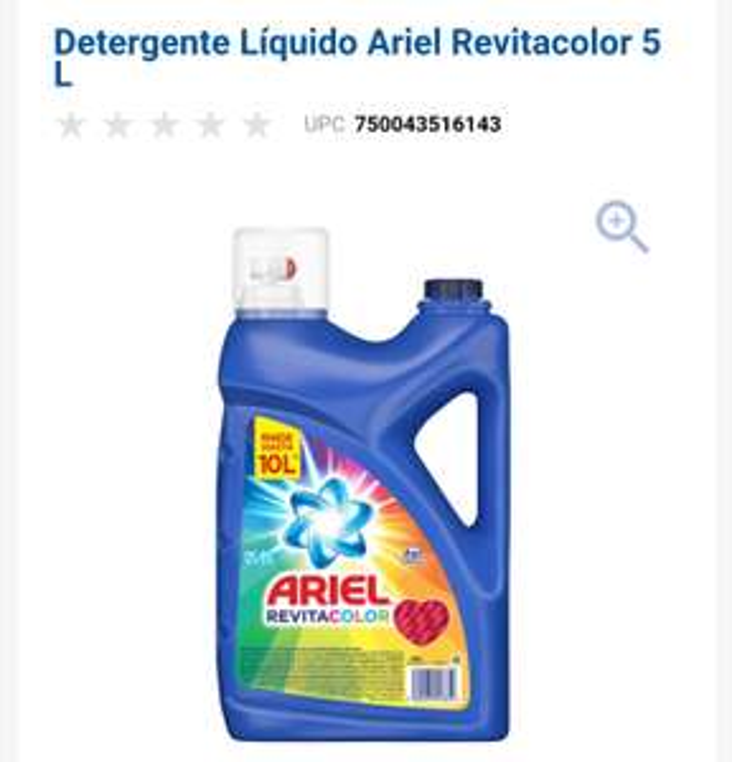 Chedrahui: Jabón liquido Ariel 5l Revitacolor