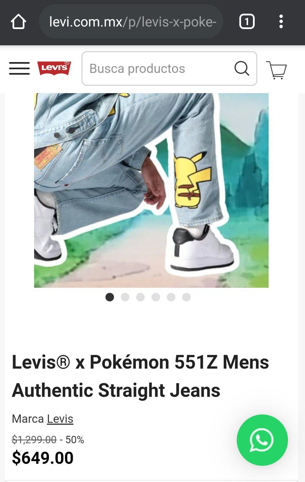 Pantalón Levi's x Pokémon 551Z