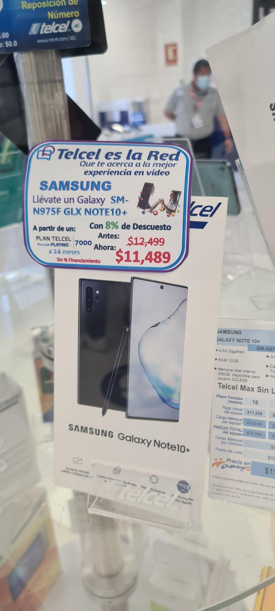 CAC de Telcel Boca del Río en Avila Camacho: Samsung Galaxy Note 10+ en plan de $599 a 24 meses