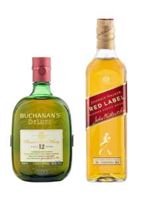 Liverpool: Whisky Johnnie Walker Red Label 700 ml + Whisky Buchanan´s 12 años 750 ml