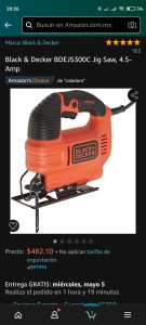 Amazon Black & Decker BDEJS300C Jig Saw, 4.5-Amp