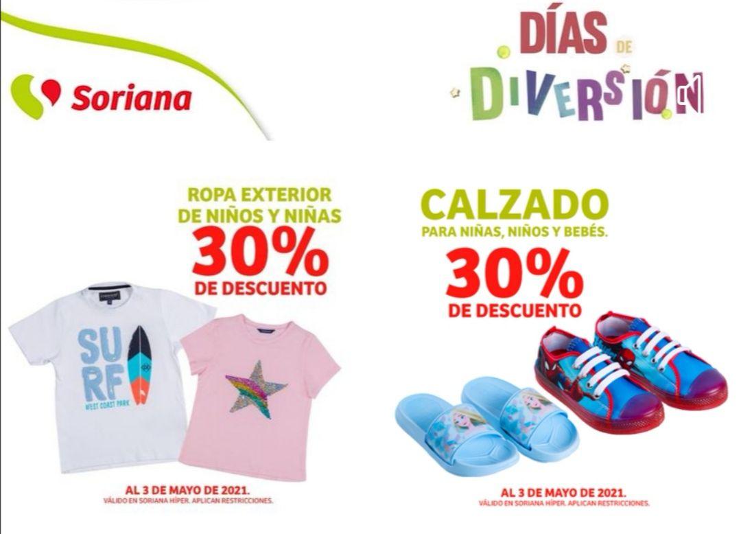 Soriana Híper: 30% de descuento en Ropa exterior para niños y niñas... y calzado para niños, niñas y bebés