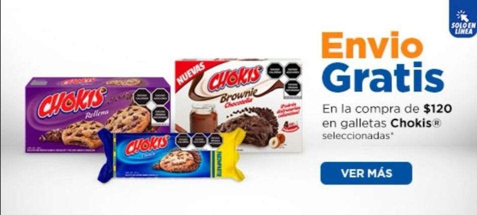 Chedraui: Envío gratis en super en la compra de $120 en galletas Chokis