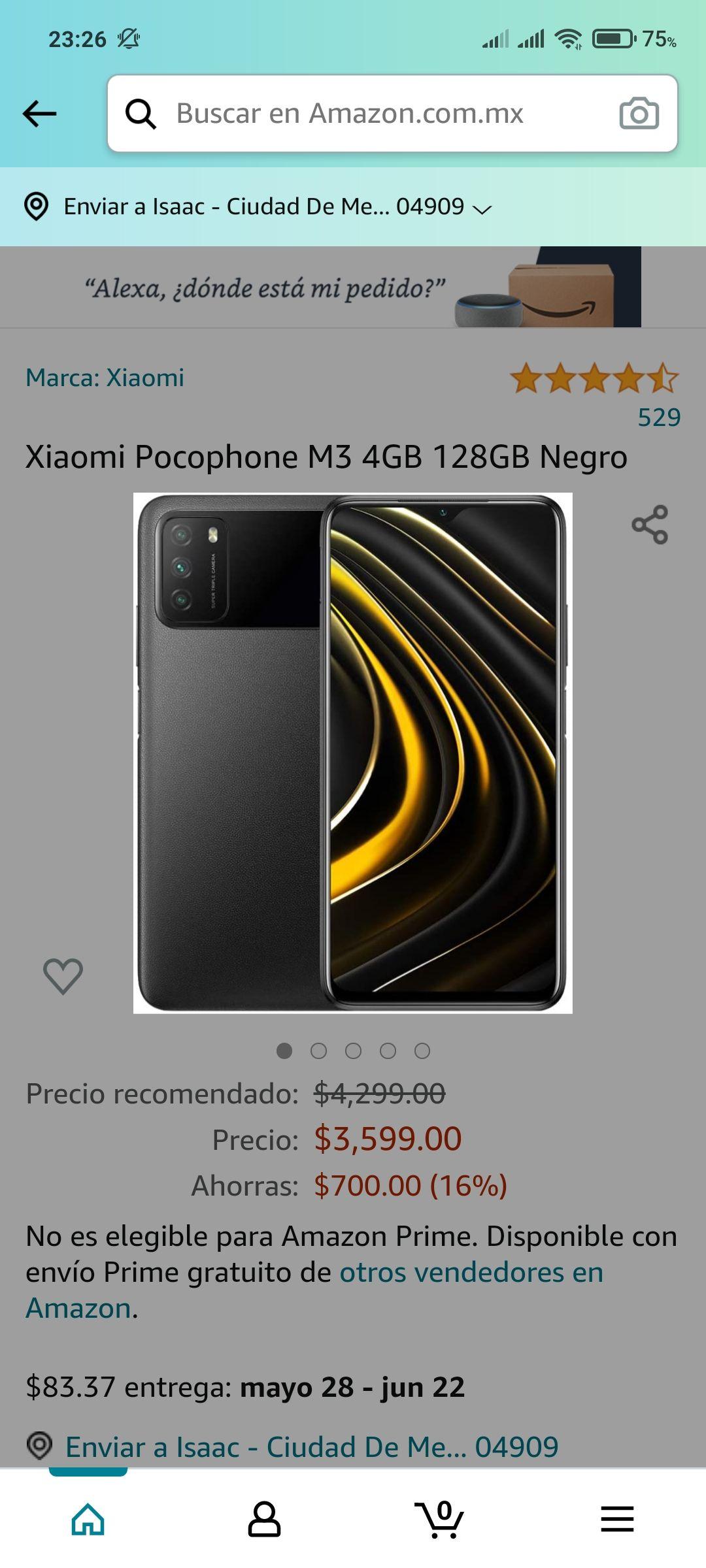 Amazon: Xiaomi Pocophone M3 4GB 128GB Negro