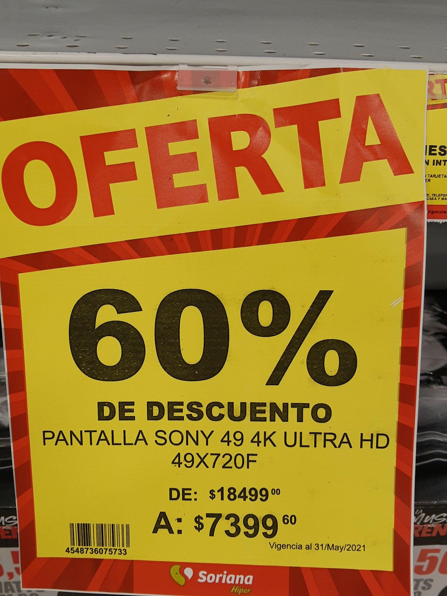 Soriana Cabo San Lucas: 60% de descuento en pantallas Sony