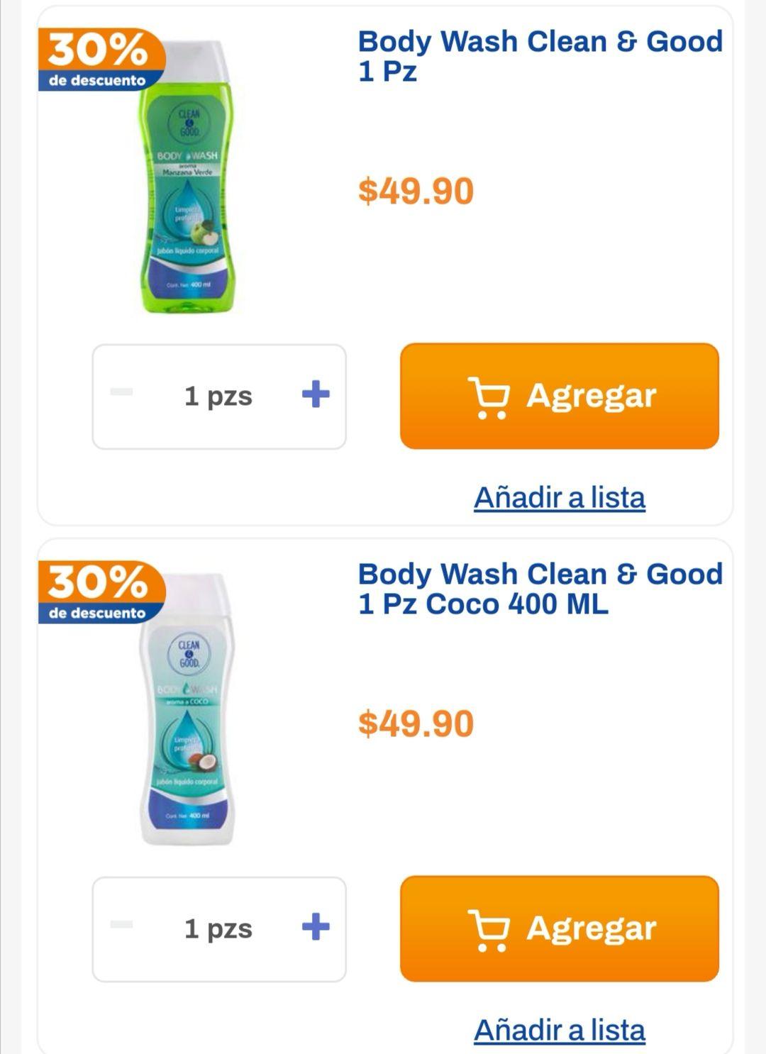 Chedraui: 30% de descuento en Body Wash Clean & Good 400 ml