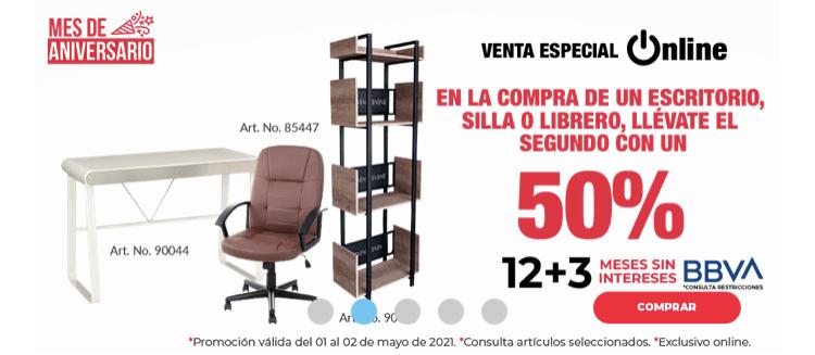 Office Depot: 50% descuento segunda pieza (escritorios y silla)