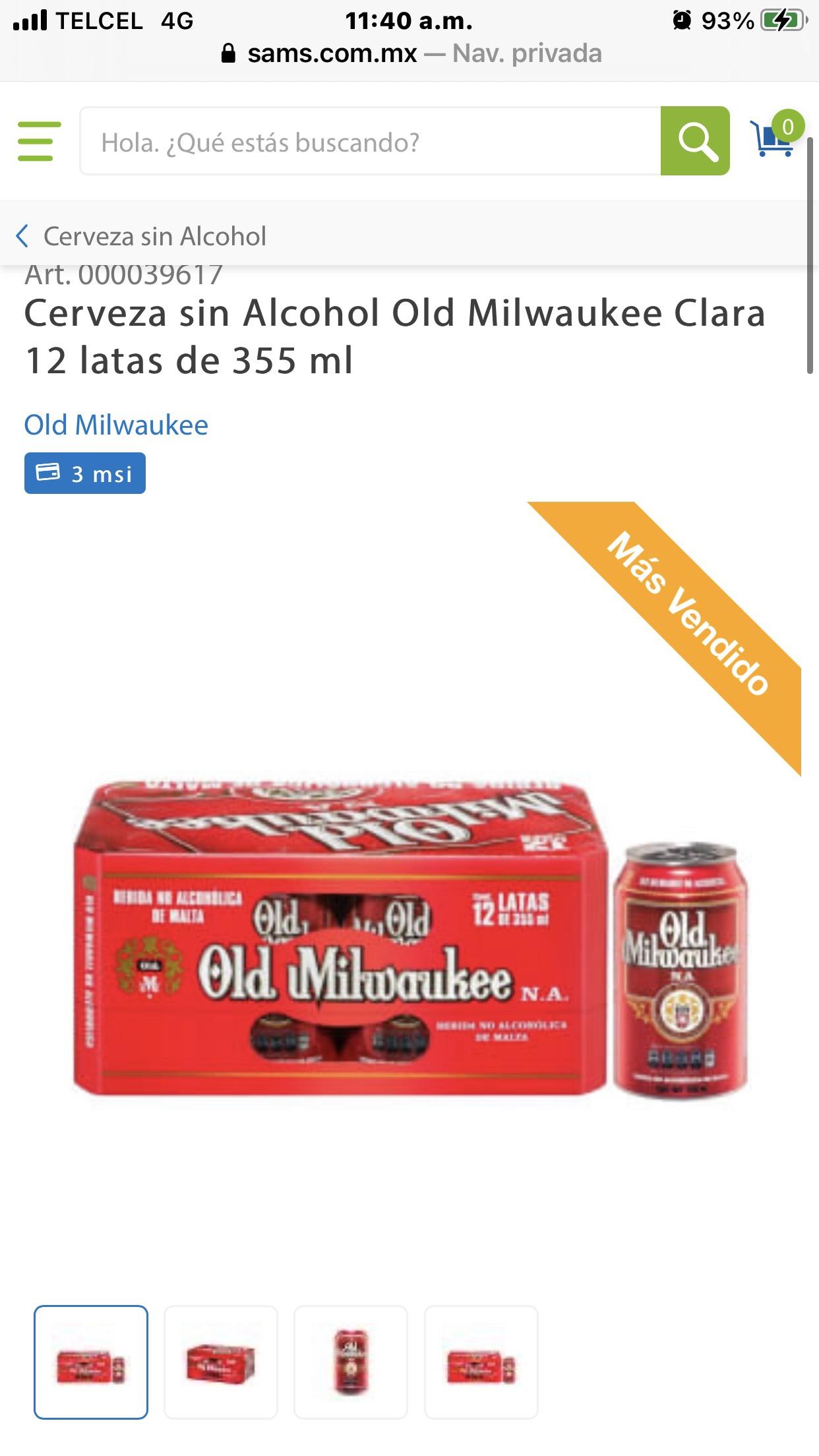 Sam's club: cerveza Old Milwaukee 12 latas