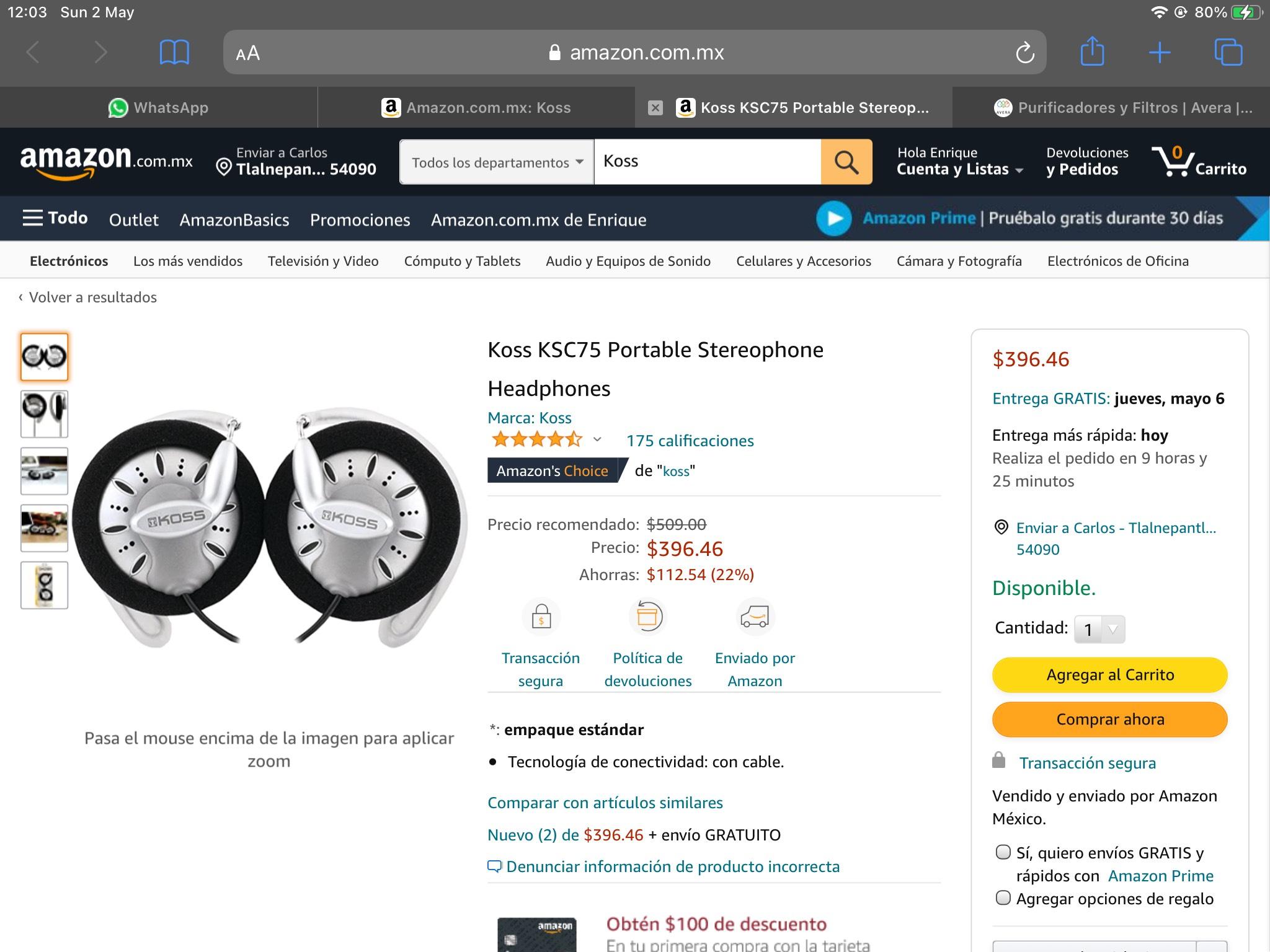 Amazon: Koss ksc75