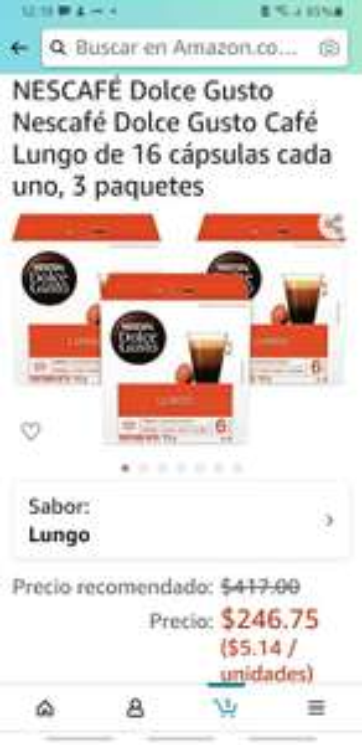 Amazon: Dolce gusto 48 capsulas de Lungo