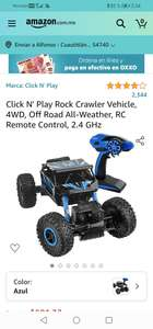 Amazon: Click N' Play Rock Crawler Vehicle, 4WD, Off Road All-Weather, RC Remote Control, 2.4 GHz