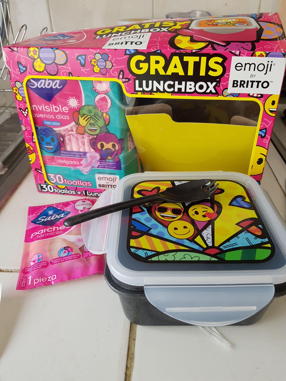 Tiendas 3B toallas sanitarias saba 30 piezas + 1 lunchbox + 1 parche térmico