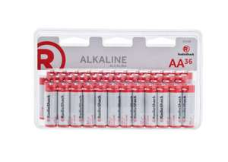 RadioShack: Pilas Alcalinas AA y AAA, 36 piezas