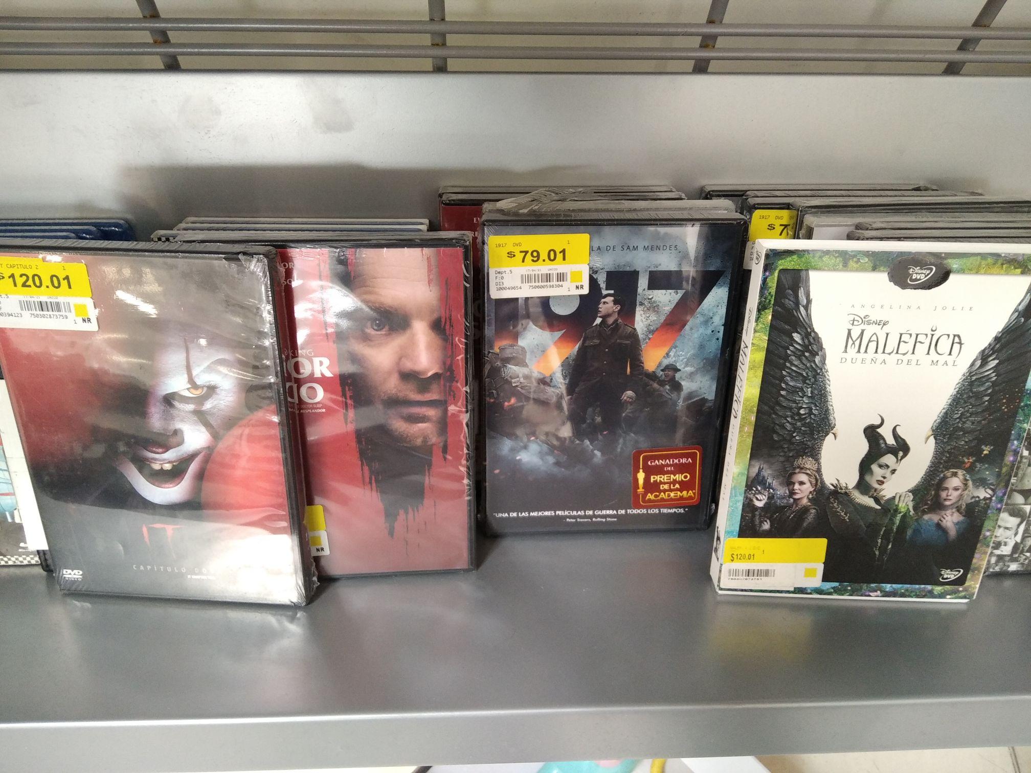 Walmart: DVDs y BluRay