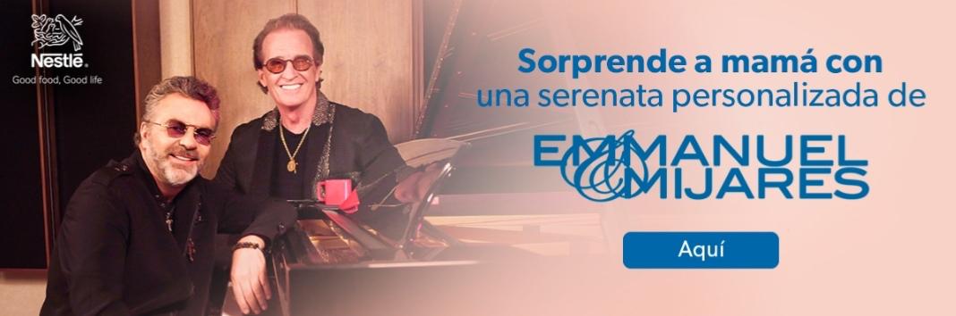Serenata personalizada para Mamá Gratis con Emmanuel y Mijares