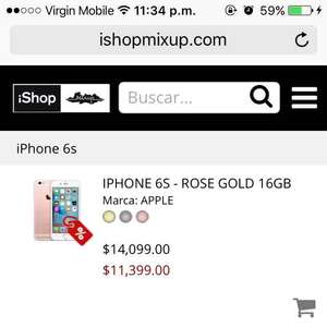 iShop: iPhone 6s 16 gb a $11,399