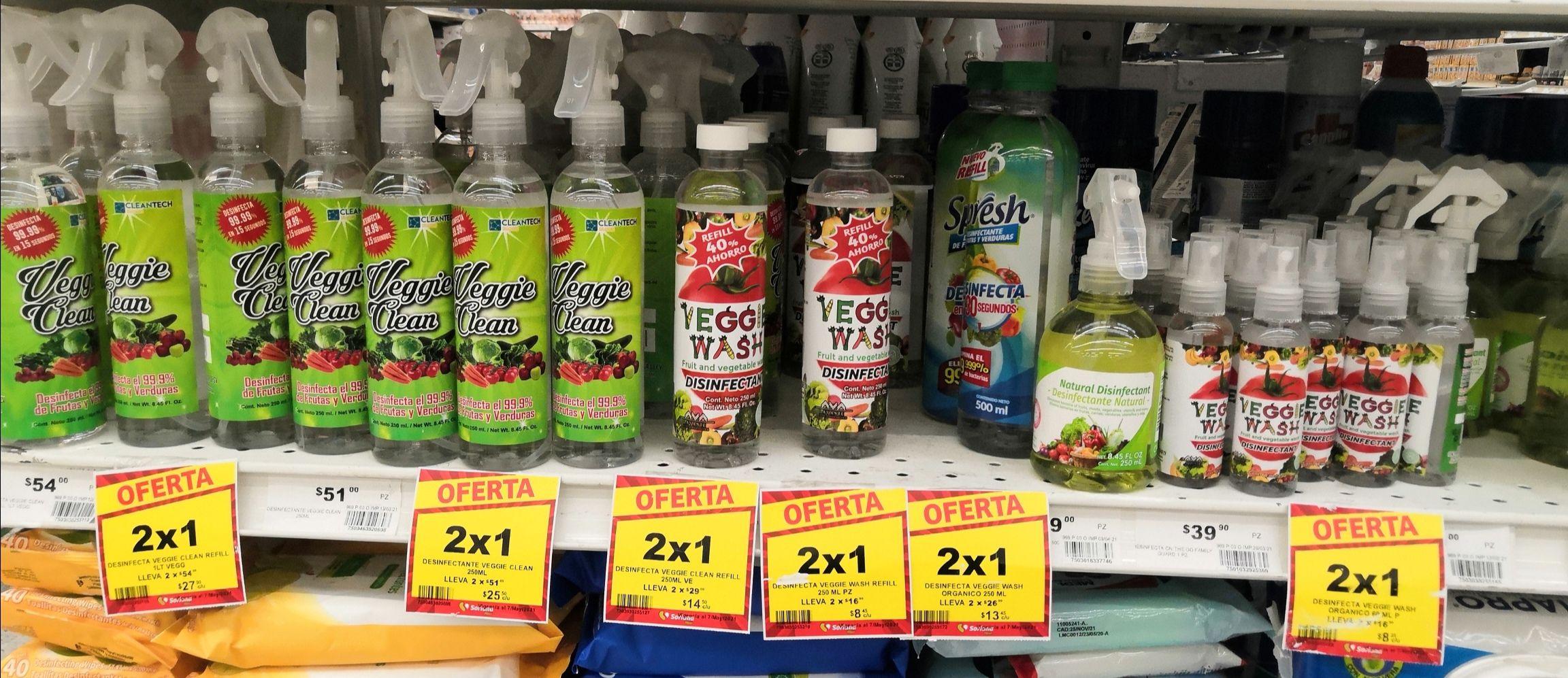 MEGA Soriana Villa Coapa: 2 x 1 en desinfectantes Veggie Clean y Veggie Wash