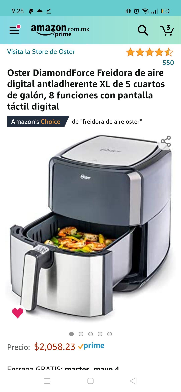 Amazon: Freidora de aire Oster DiamondForce 5QT