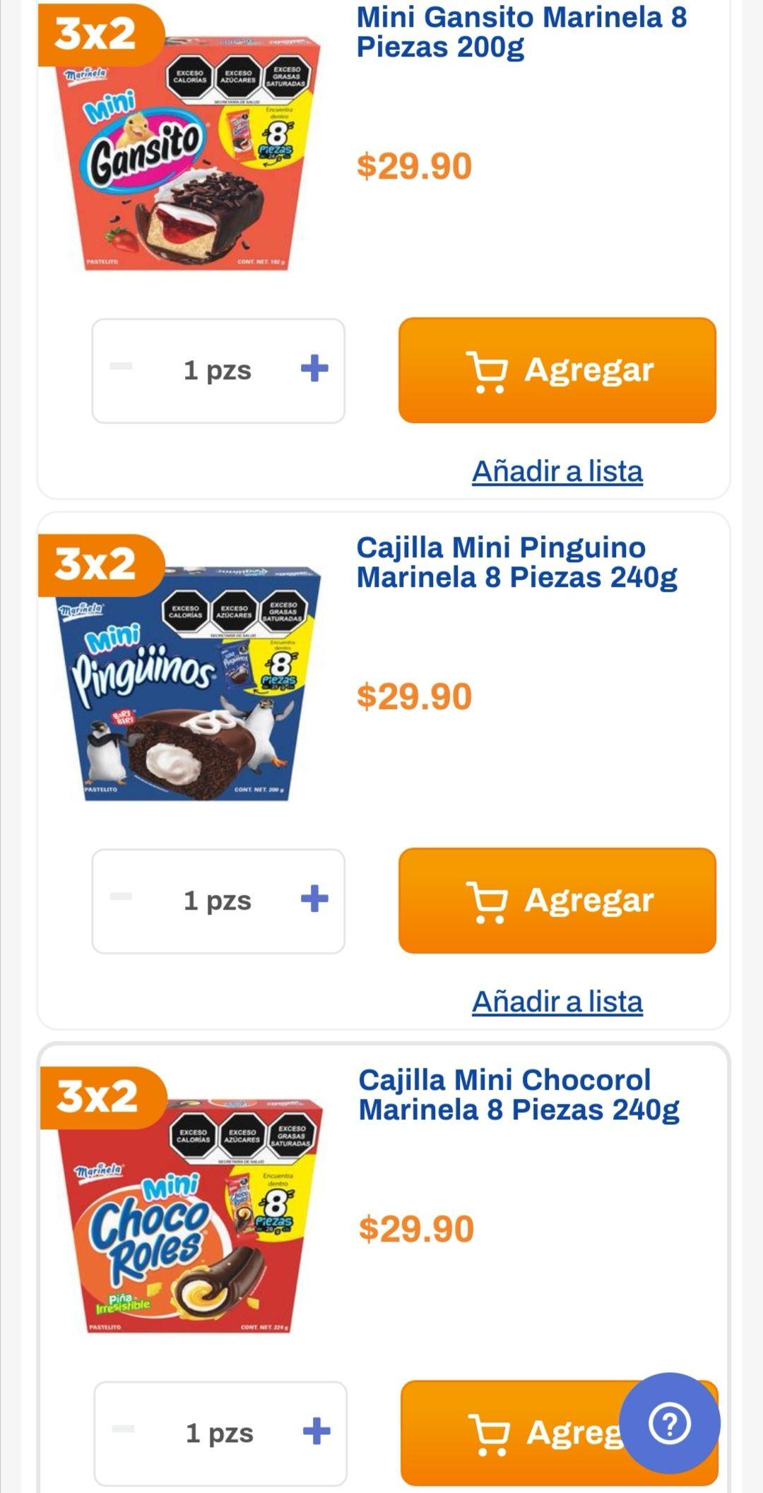 Chedraui: 3 x 2 en Mini Gansito 200 g, Mini Choco Roles 240 g y Mini Pingüino 240 g. (3 x $59.80)