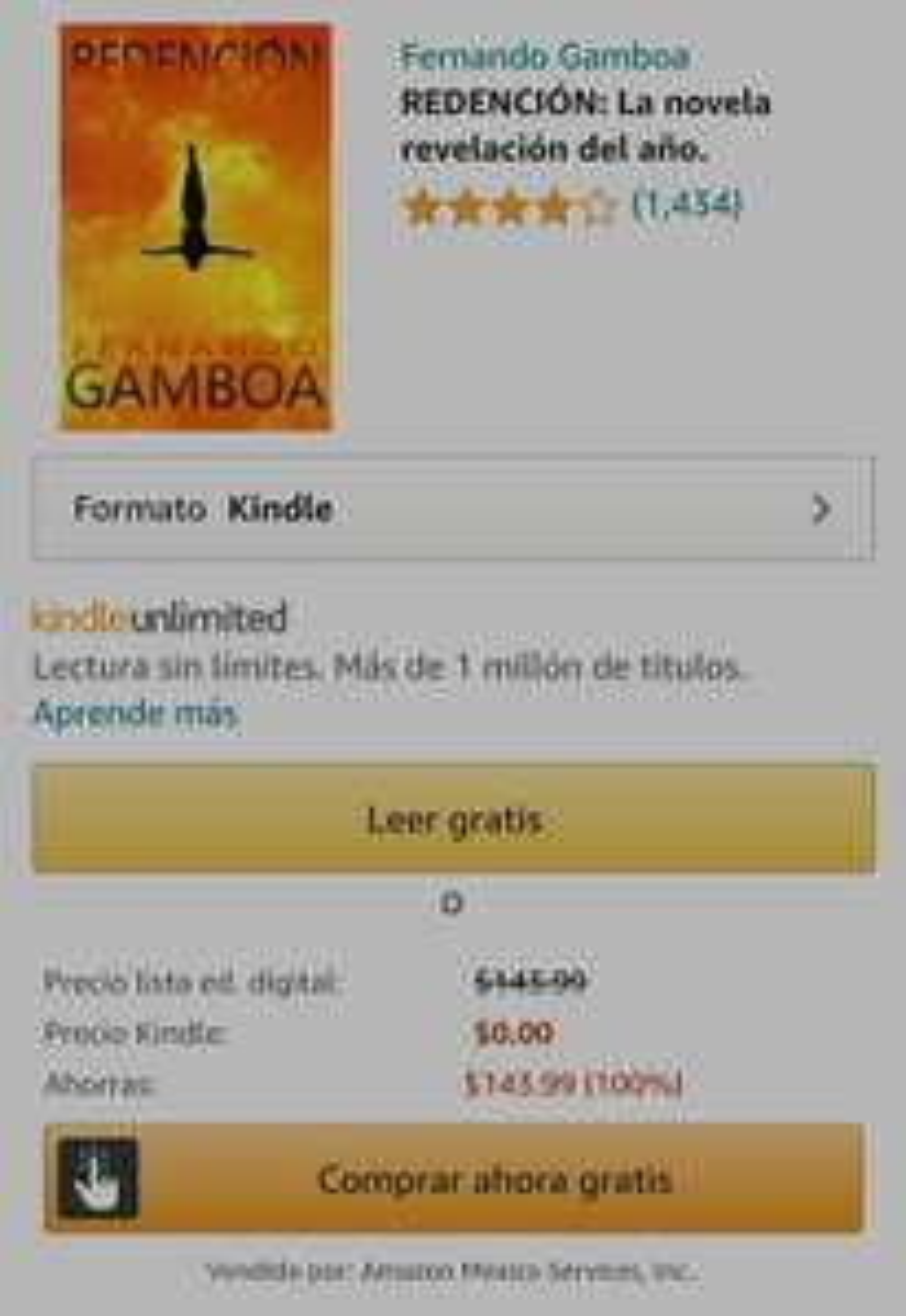 """Amazon Kindle: """"Redencion"""" de Fernando Gamboa Edición Kindle"""