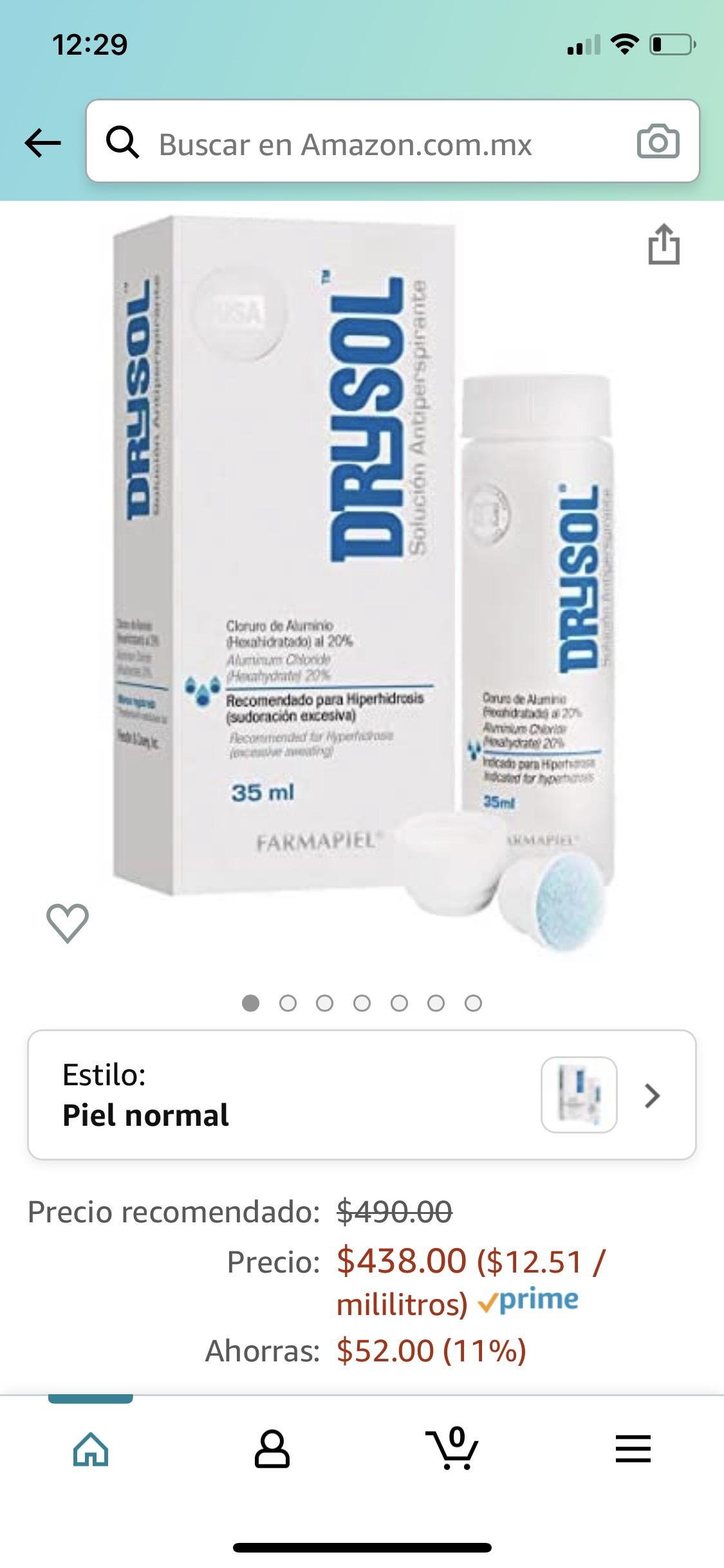Amazon: Drysol (Solución Antiperspirante) 35ml