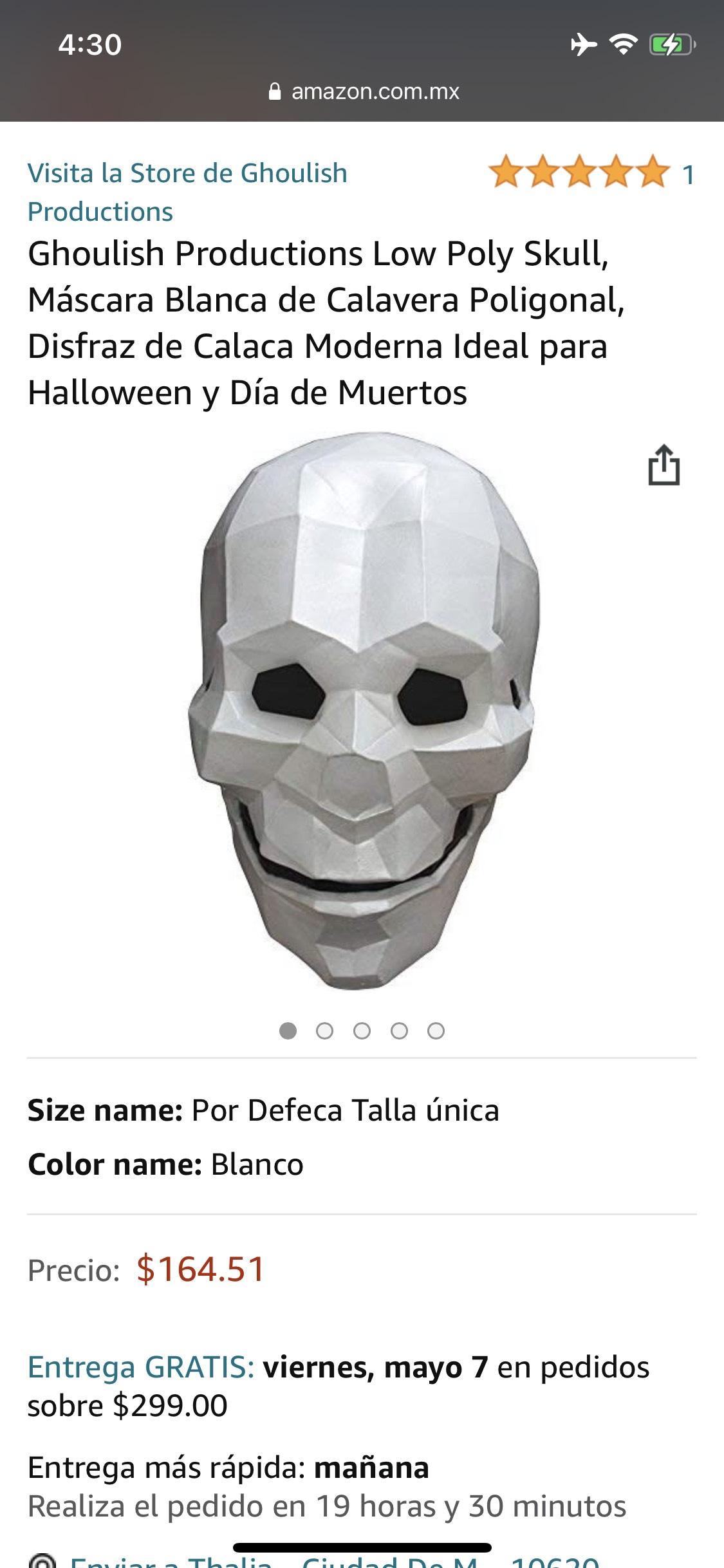 Amazon: Máscara de Payaso Triste Creepy