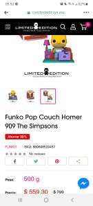 Limited Edition: Funko Pop Couch Homer 909 The Simpsons