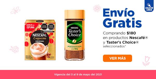 Chedraui: Envío gratis en super en la compra de $180 en productos Nescafé y Taster Choice seleccionados