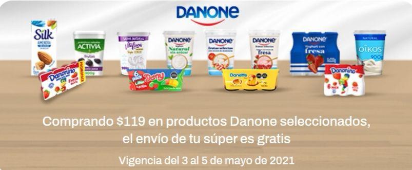 Chedraui: Envío gratis en super en la compra de $119 en productos Danone seleccionados
