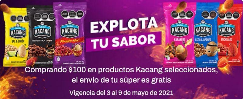 Chedraui: Envío gratis en super en la compra de $100 en productos Kacang seleccionados
