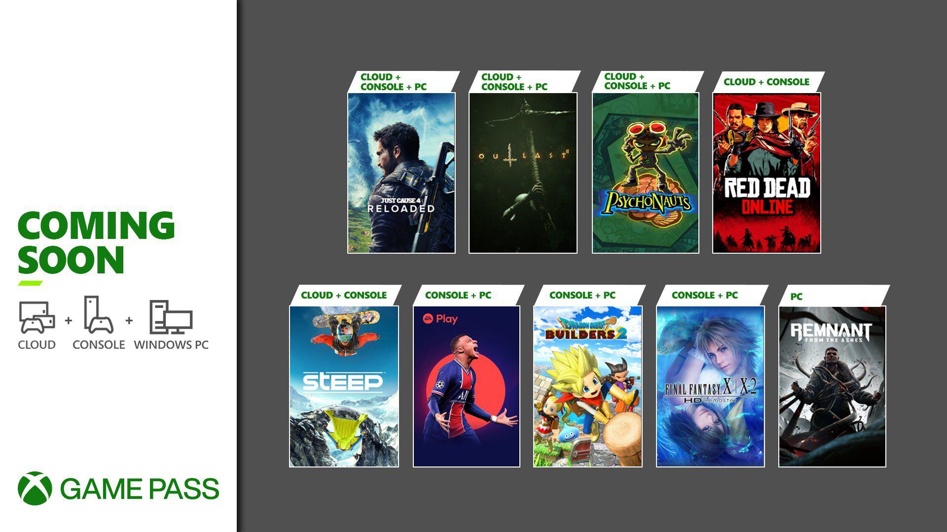 Xbox: Juegos que se unen al catálogo de Game Pass