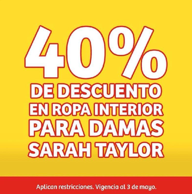 Soriana Mercado y Express: 40% de descuento en ropa interior marca Sarah Taylor para damas