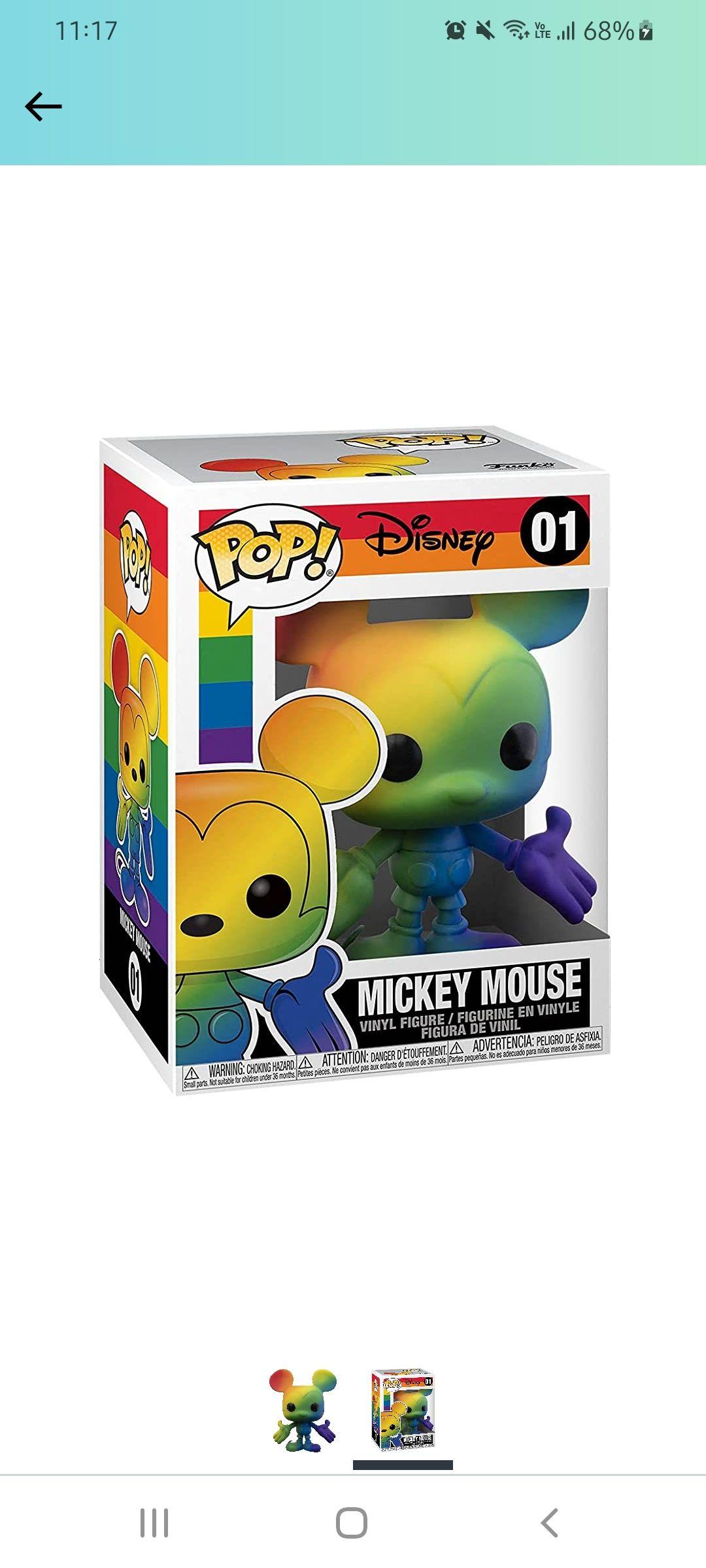 Amazon: Preventa - Funko Pop! Disney: Pride - Mickey Mouse (Rainbow)
