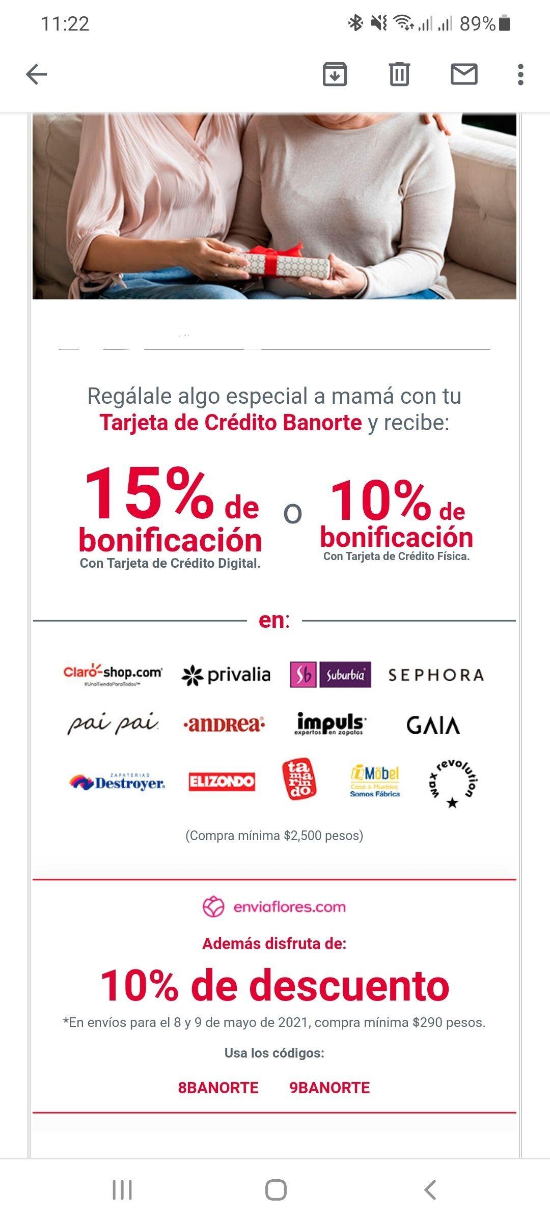 Banorte: 15% de Bonificación en varios establecimientos con TDC Digital