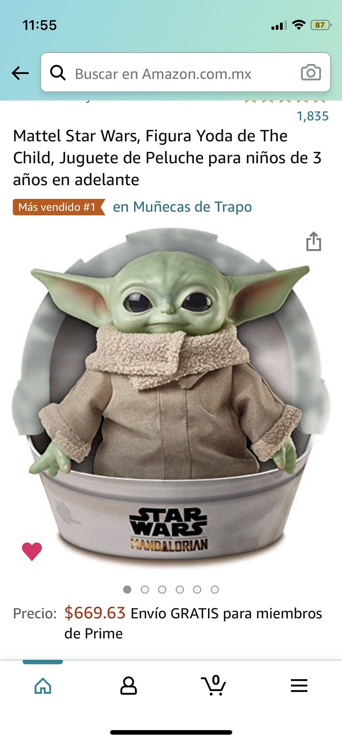 Amazon: Baby yoda peluche