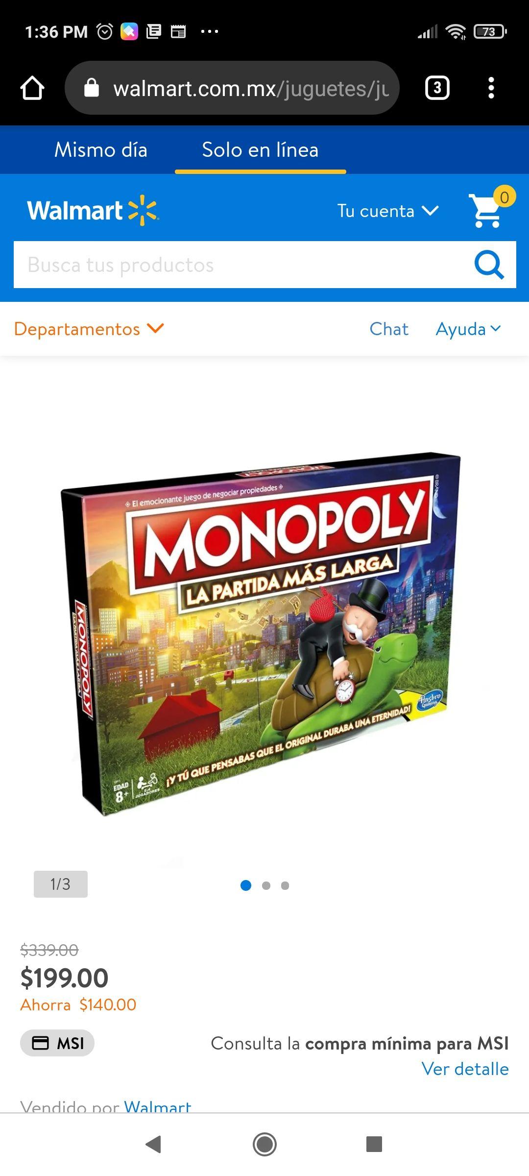 Walmart: Monopoly la partida más larga