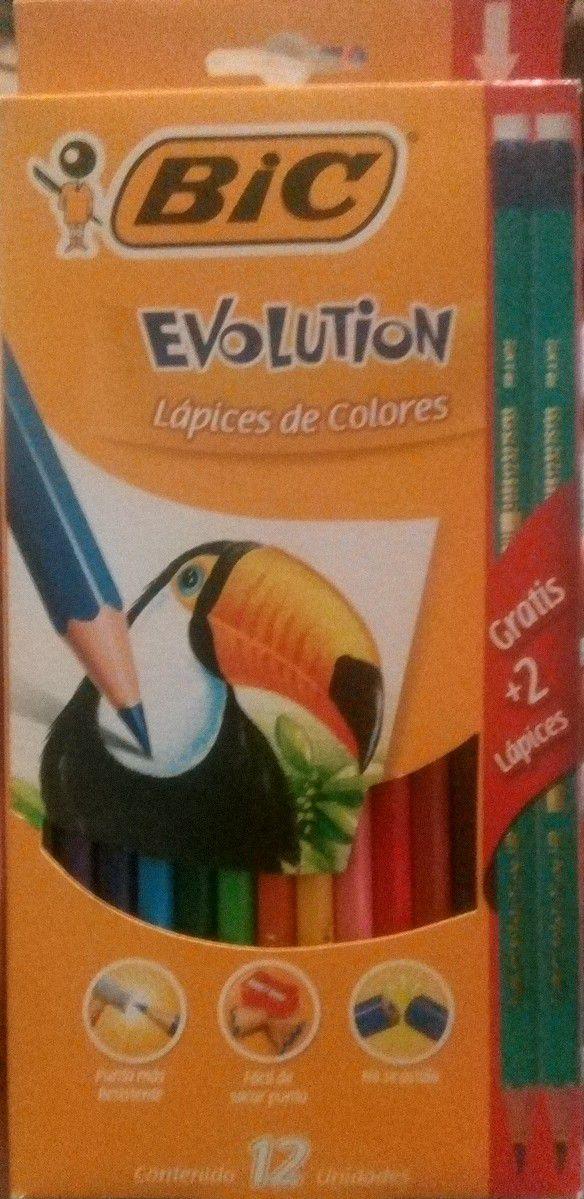 Mega Soriana: Colores Bic Evolution 12 pzas y dos lápices de regalo