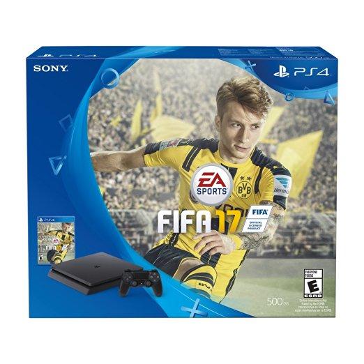 Amazon: Consola PlayStation 4 Slim, 500GB + FIFA 2017 - Bundle Edition