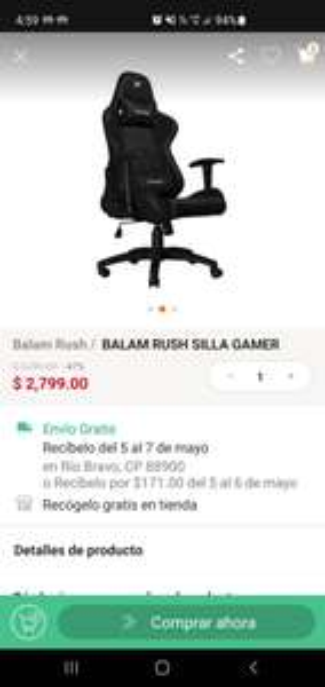 LINIO...Silla Gamer Balam Rush