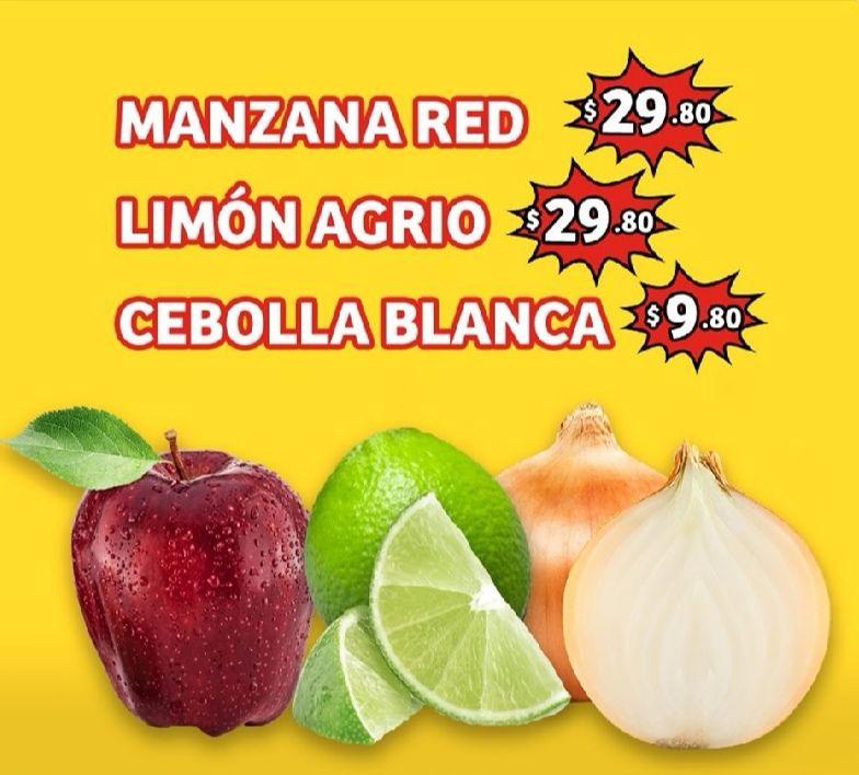 Soriana Mercado y Express: Frescura de Mercado 4 y 5 Mayo: Cebolla $9.80 kg... Manzana Red o Limón $29.80 kg.